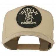 Vietnam Remembered Military Patched High Profile Cap - Khaki