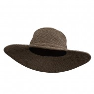 UPF 50+ Self Tie Flat Brim Hat - Black