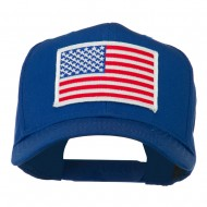 White American Flag Patched Cap - Royal