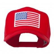 White American Flag Patched Cap - Red