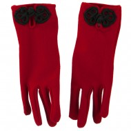 Women's Chinese Latch Glove - Red