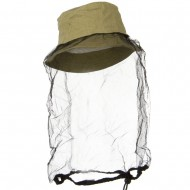 Washed Cotton Twill Mosquito Net Hat - Tan