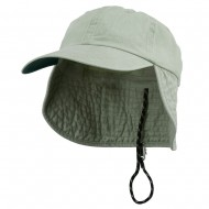 Washed Cotton Flap Hat-Putty