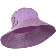 Women's Crushable Hat with Paper Braid Brim - Lilac