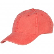Pigment Dyed Wash Caps-Coral