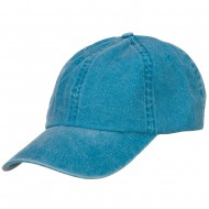 Pigment Dyed Wash Caps-Turquoise