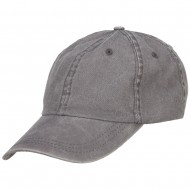 Pigment Dyed Wash Caps-Grey