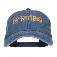 Bewitching Embroidered Washed Cap - Navy