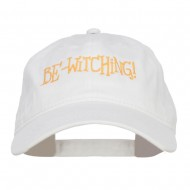 Bewitching Embroidered Washed Cap - White