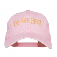 Bewitching Embroidered Washed Cap - Pink