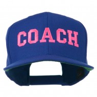 Women's Coach Embroidered Flat Bill Cap - Royal