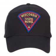 Wisconsin Police Seal Patched Cotton Twill Cap - Black