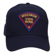 Wisconsin Police Seal Patched Cotton Twill Cap - Navy