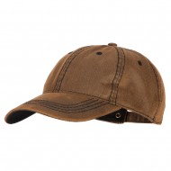Washed Deluxe Unstructured Wax Cotton Cap - Brown