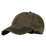 Washed Deluxe Unstructured Wax Cotton Cap - Dk Olive