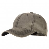 Washed Deluxe Unstructured Wax Cotton Cap - Grey