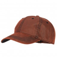 Washed Deluxe Unstructured Wax Cotton Cap - Maroon