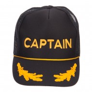 Military Word Embroidered Oak Leaves Cap - Captain