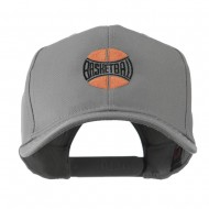 Basketball with Wording Inside Embroidered Cap - Grey