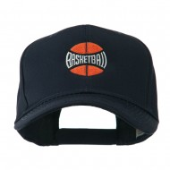 Basketball with Wording Inside Embroidered Cap - Navy