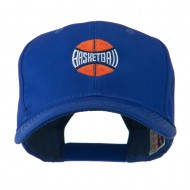 Basketball with Wording Inside Embroidered Cap - Royal
