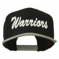 Warriors Embroidered Classic Wool Blend Cap - Black Silver