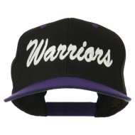 Warriors Embroidered Classic Wool Blend Cap - Black Purple