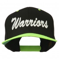 Warriors Embroidered Classic Wool Blend Cap - Neon Yellow