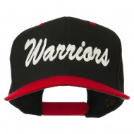 Warriors Embroidered Classic Wool Blend Cap - Black Red