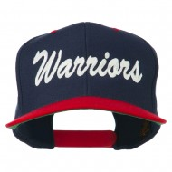 Warriors Embroidered Classic Wool Blend Cap - Navy Red