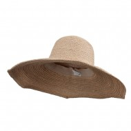 Wooden Ring 6 Inch Straw Hat - Natural