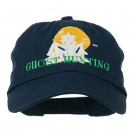 Halloween Ghost Hunting Embroidered Pet Spun Cap - Navy
