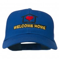 Welcome Home Embroidered Cotton Twill Cap - Royal