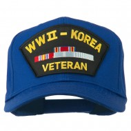 WWII Korean Veteran Patched Cotton Twill Cap - Royal