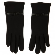 Women's Jersey Knit Texting Gloves - Black