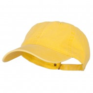 Washed Solid Pigment Dyed Cotton Twill Brass Buckle Cap - Bright Yellow