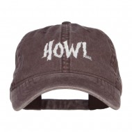 Howl Embroidered Washed Cap - Brown