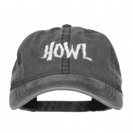 Howl Embroidered Washed Cap - Black