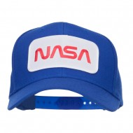 NASA Letter Patched Youth Wool Cap - Royal