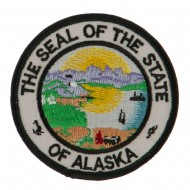 Western State Seal Embroidered Patch - Alaska