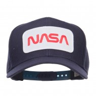 NASA Letter Patched Youth Wool Cap - Navy