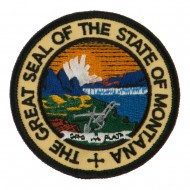 Western State Seal Embroidered Patch - Montana