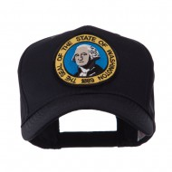 US Western State Seal Embroidered Patch Cap - Washington