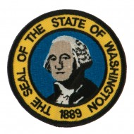 Western State Seal Embroidered Patch - Washington