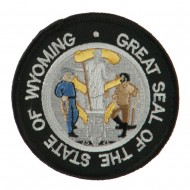 Western State Seal Embroidered Patch - Wyoming