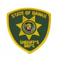 Western State Police Embroidered Patches - HI State