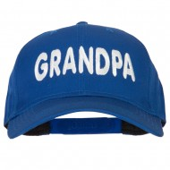 Wording of Grandpa Embroidered Solid Cotton Pro Style Cap - Royal