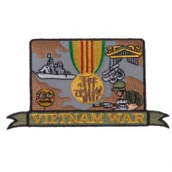 War and Operation Embroidered Military Patch - Vietnam War
