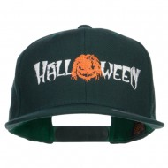 Halloween Monster Embroidered Snapback Cap - Spruce