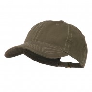 6 Panel Cotton Washed Cap - Dark Olive